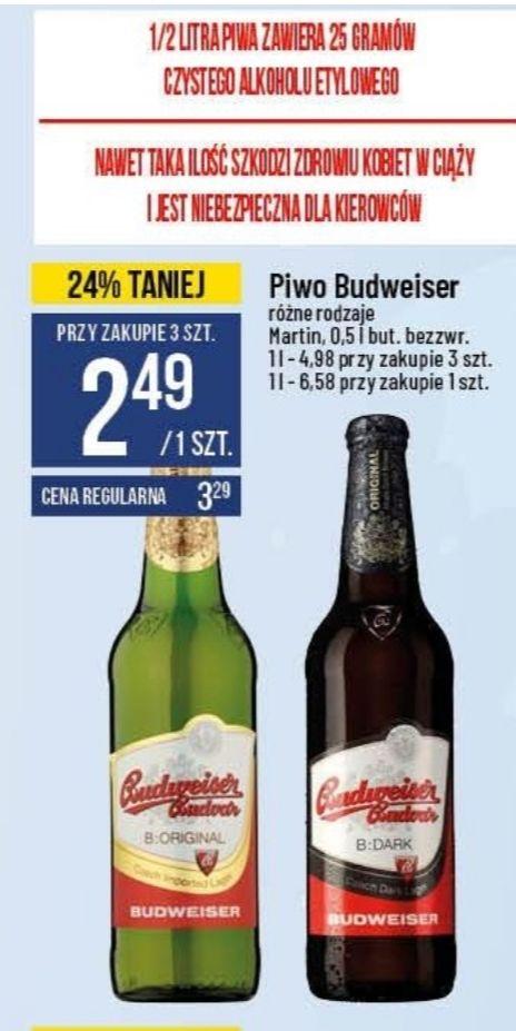 Piwo Budweiser. Polomarket