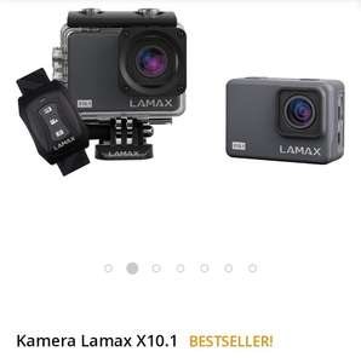 Kamera sportowa Lamax X10.1 (4K/30fps H.265, OIS, WiFi, dodatkowa bateria, pełne akcesorium) @ Morele
