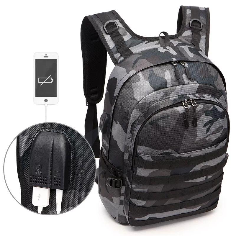 Tani plecak z portem USB i mini Jack