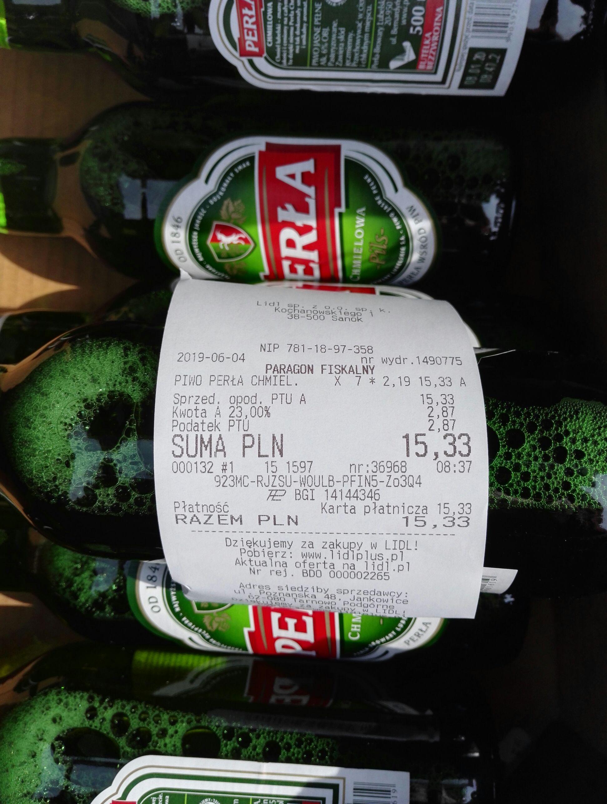 Piwo Perła Chmielowa, Export, Rześkie