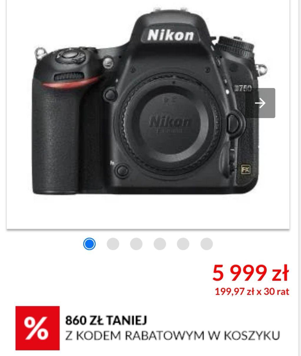 Nikon D750 body FX, raty 0 procent i darmowa dostawa