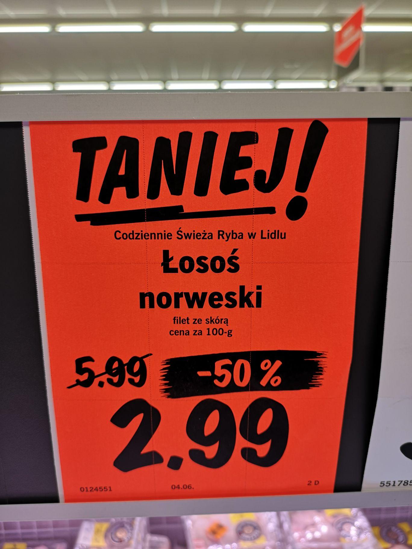 Filet z Łososia Norweskiego ze skórą - Lidl Jaworzno - krakowska