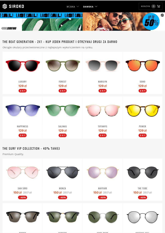 Okulary SIROKO 2 pary w cenie 1