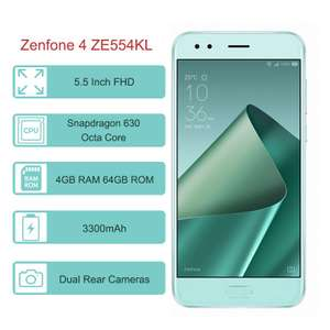 ASUS ZenFone 4 (ZE554KL) Global Version 5.5 Inch FHD NFC 3300mAh 4GB/64GB Snapdragon 630 - Miętowy $119.99