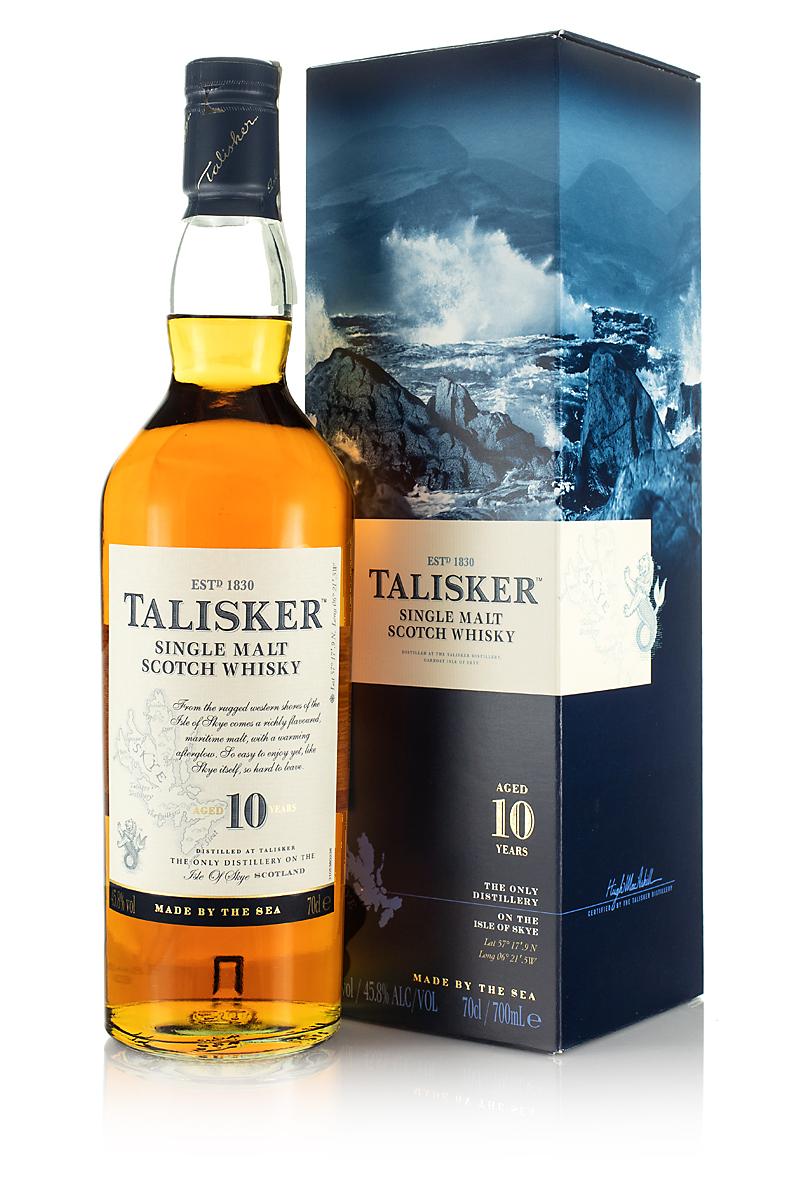 Whisky Talisker 10 yo 0,7 l + karton