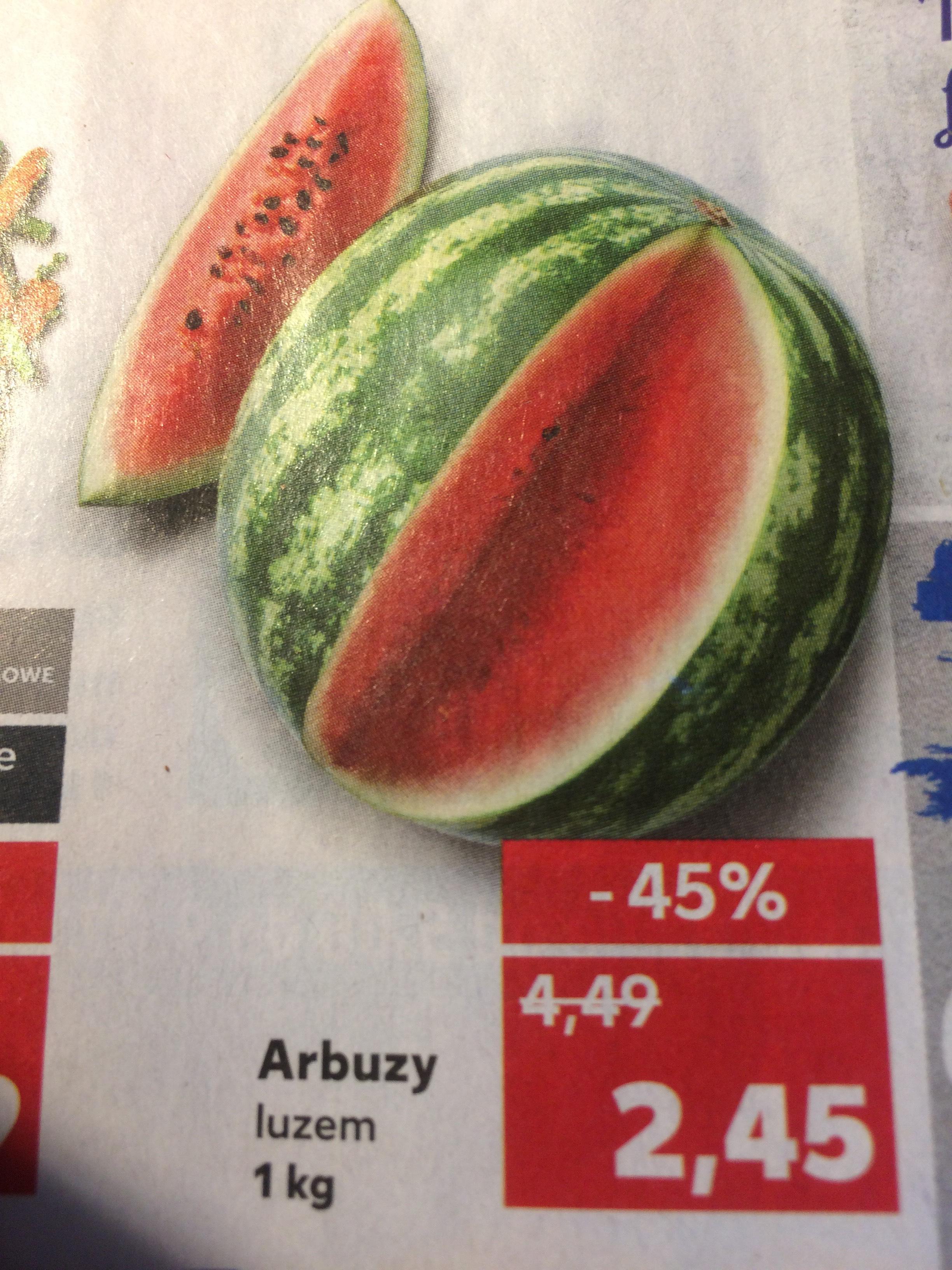 ARBUZY 2,45 zł za 1kg