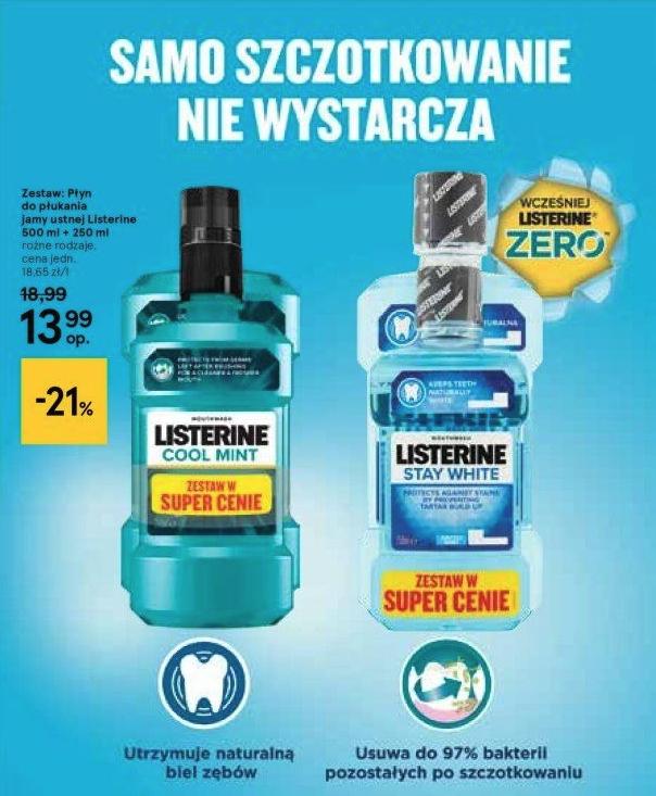 Zestaw Listerine 500ml + 250 ml @Tesco