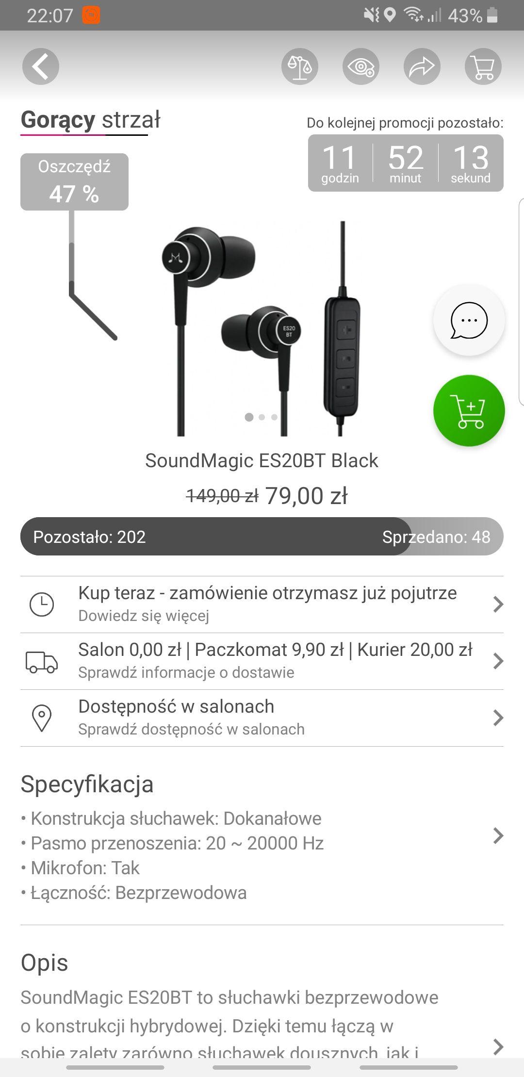 Soundmagic ES20BT