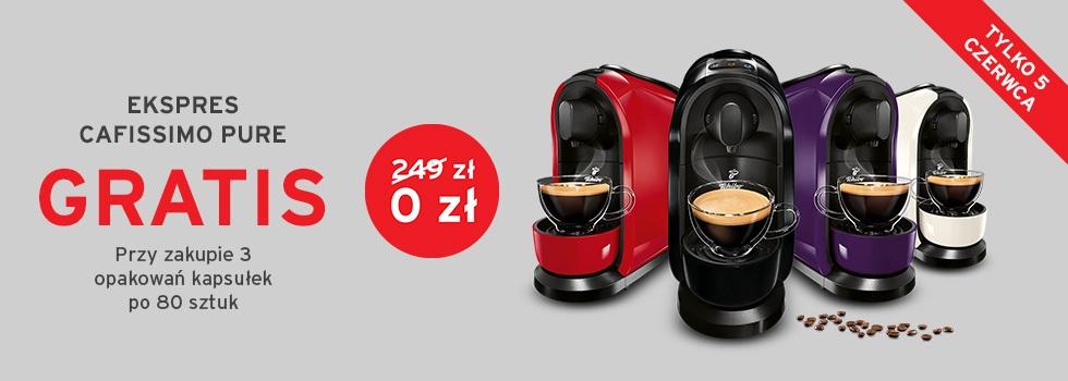 Ekspres Cafissimo gratis przy zakupie 3 opakowań kapsułek 80 lub 96 szt.