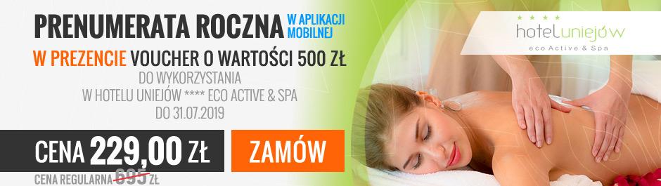 Prenumerata WPROST + VOUCHER 500 zł Hotel Uniejów NA WAKACJE