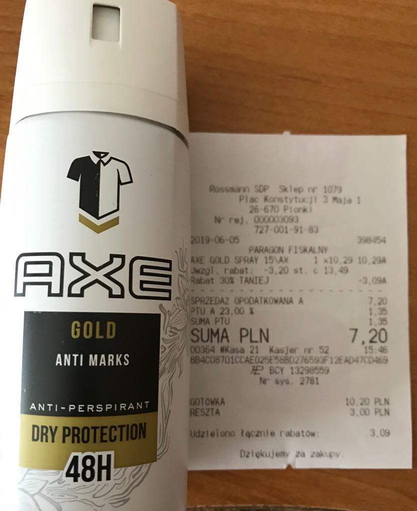 Axe Gold, antyperspirant męski w sprayu, 150 ml @Rossmann