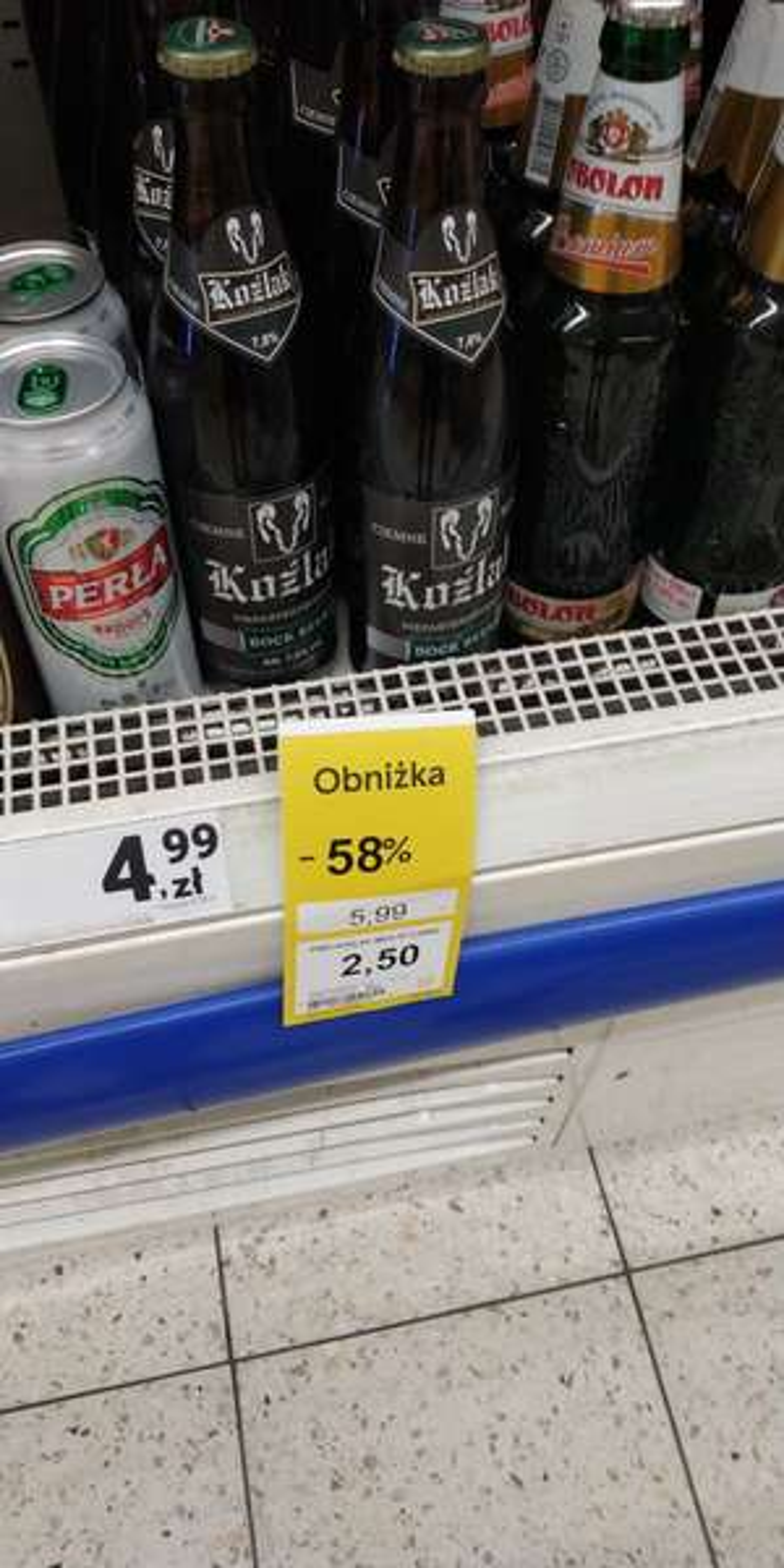 Piwo Koźlak Tesco (Leszno)