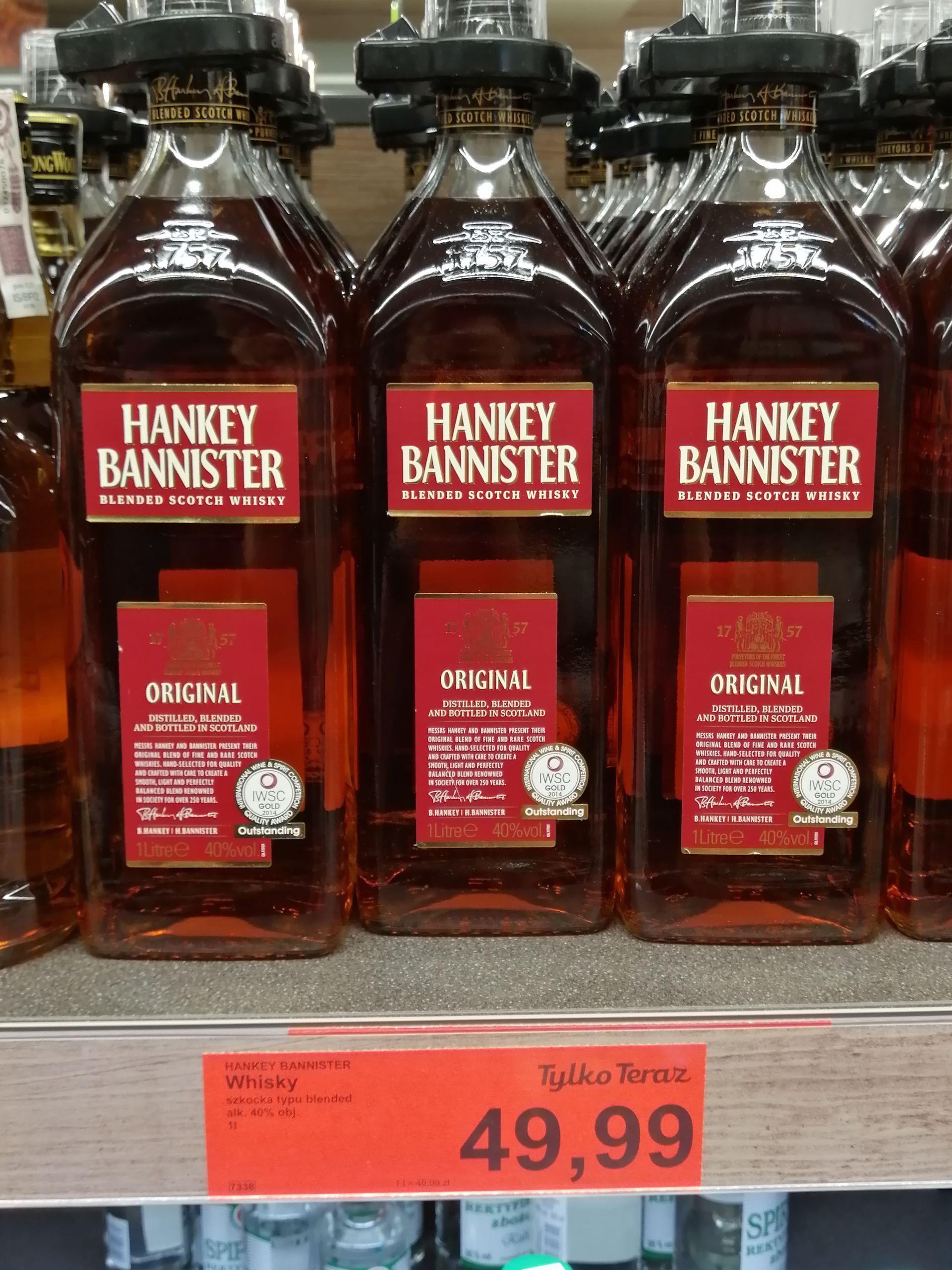 Whisky Hankey Bannister 40% 1 l Aldi