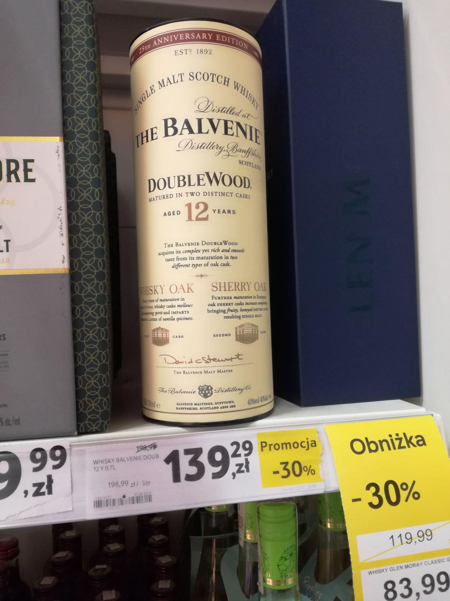 Whisky Balevenie DoubleWood 12Y0 0.7l Tesco Tarnowskie Góry