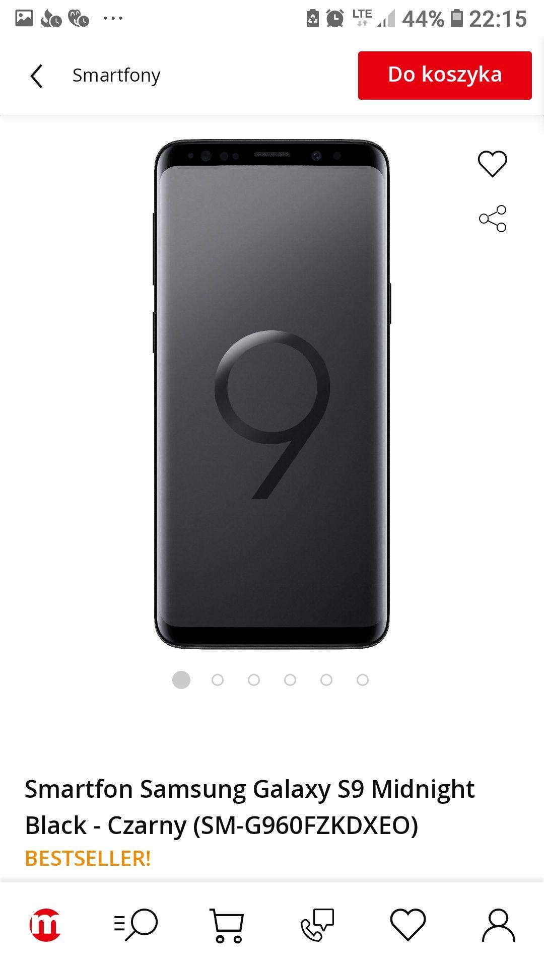 Samsung Galaxy s9 z szansą na cenę 1698.99 (akcja Samsung cashback)