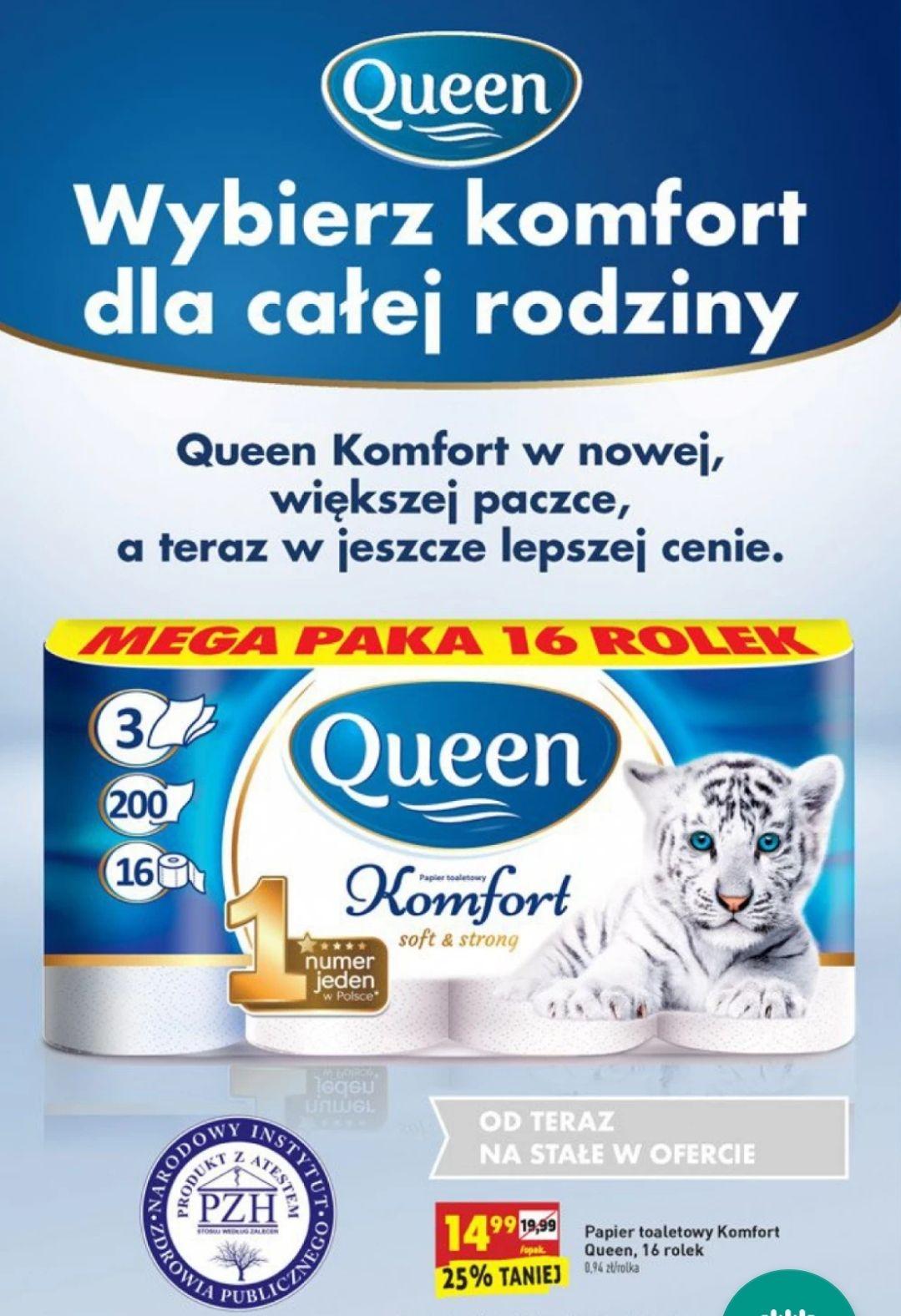 Papier Toaletowy Komfort Queen 16 rolek - Biedronka
