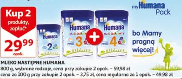 Mleko Humana za 29,99zł przy zakupie 2szt. @ Auchan