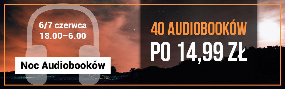 40 audiobooków po 14,99 zł w Woblink - od godziny 18.00 w czwartek do 6.00 w piątek