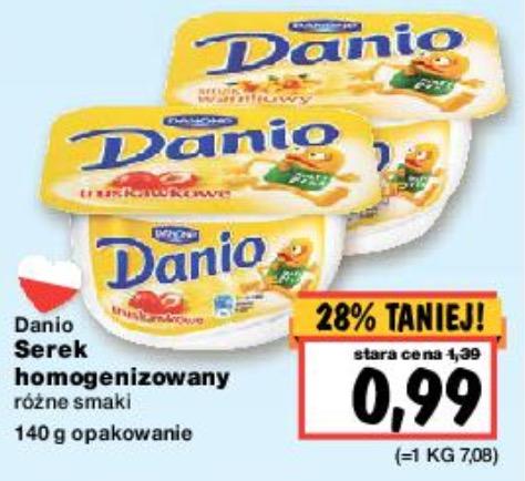 Danio po 0,99zł z kuponami Żbik za darmo ! @Kaufland