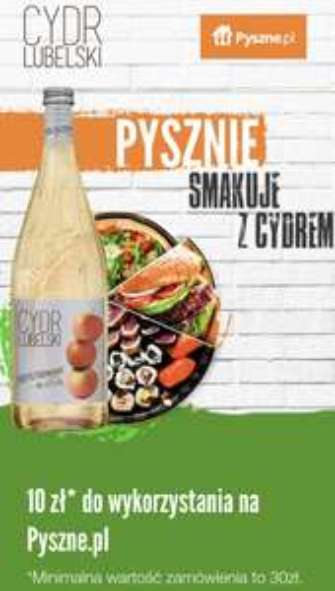Pyszne.pl rabat 10 pln za cydr lubelski pysznezcydrem.pl