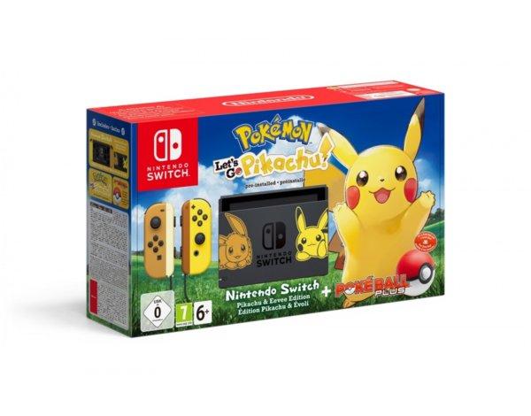 Nintendo Switch Pokémon: Let's Go Pikachu Edition + Joy-Con Żółty + Poké Ball Plus w Media Markt
