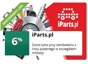 -6% zwrotu za zakupy w iParts.pl