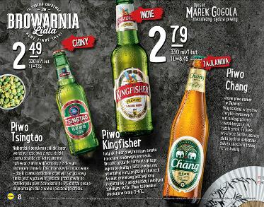 Piwa azjatyckie 0,33l: Tsingtao  za 2,49zł, Kingfisher/Chang za 2,79zł @ Lidl