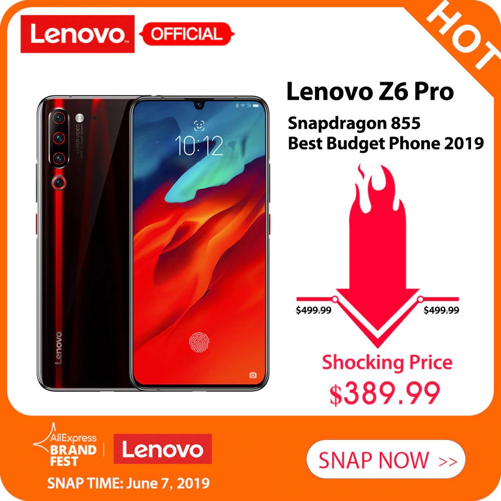 Smartfon Lenovo Z6 Pro (6GB RAM, 128GB pamięci, Snapdragon 855, Amoled 6,39'') @ AliExpress