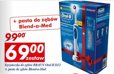 Szczoteczka Braun Oral-B za 69zł (+ pasta Blend-a-Med gratis) @ Auchan