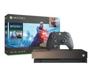 Microsoft Xbox One X - 1TB - Gold Rush Special Edition (Battlefield V Deluxe Edition)