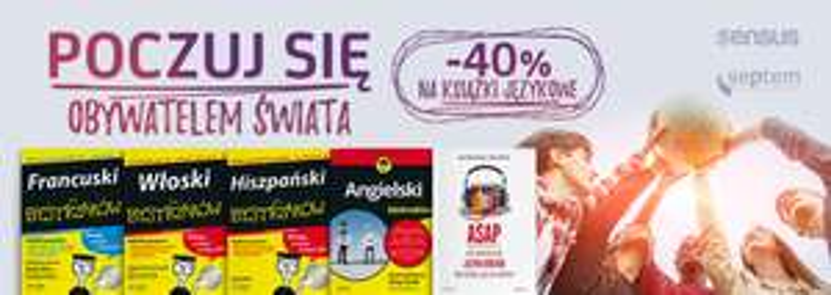 Książki językowe -40% (seria Dla Bystrzaków i nie tylko) @ Sensus