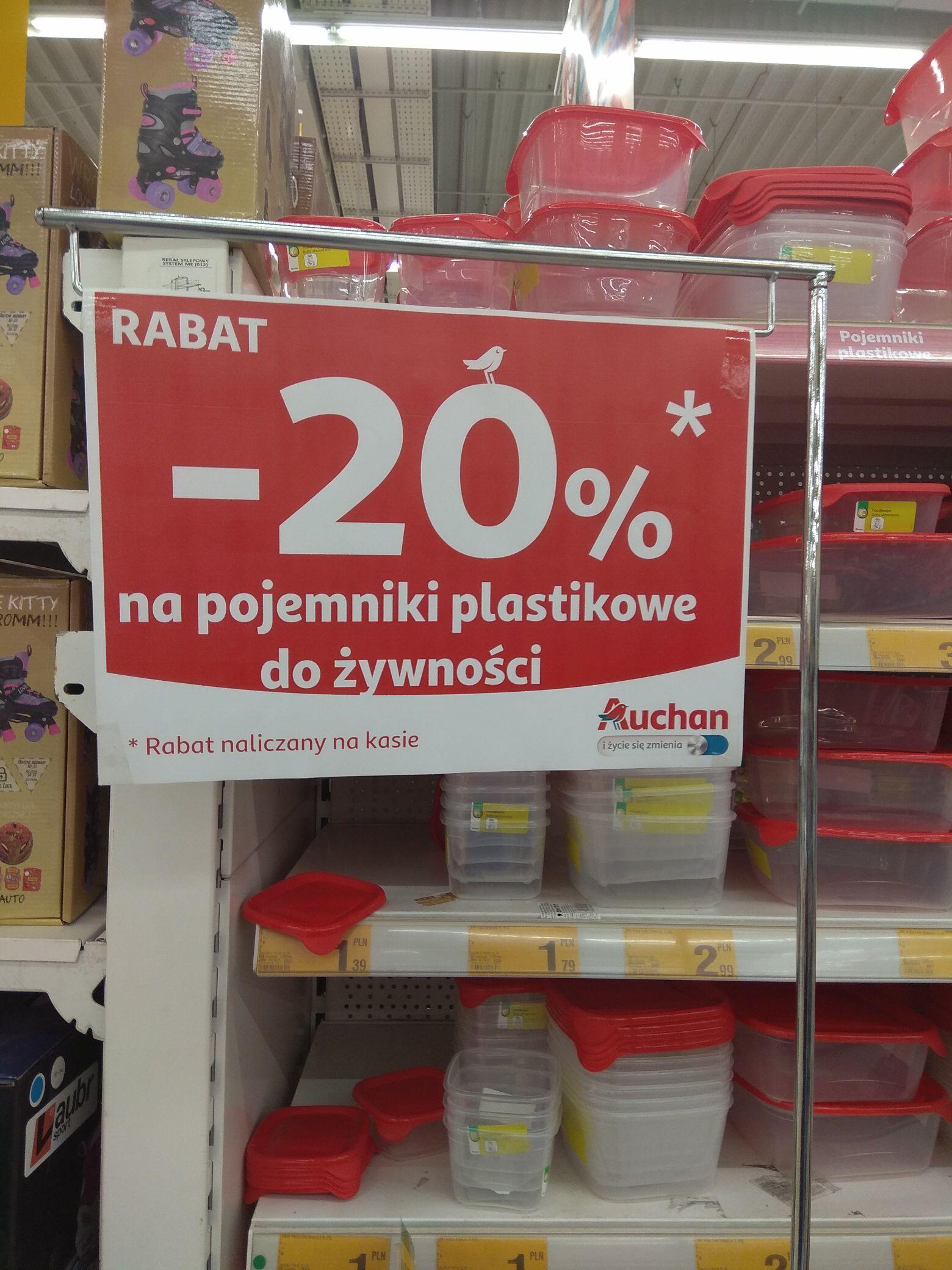 -20% na pojemniki plastikowe, Auchan, Lublin Chodźki