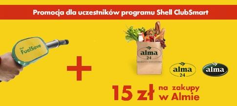Zatankuj i kupuj taniej w Alma @Shell @Alma