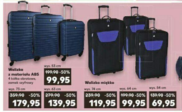 Błąd cenowy - twarde walizki ABS Semi Line w cenie materiałowych w Kauflandzie