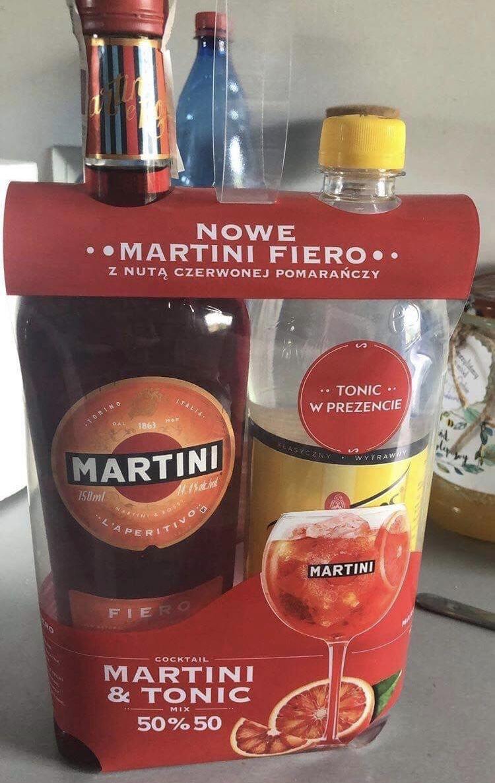 Martini fiero 0,75l + Schweppes 0,9l za 22zl