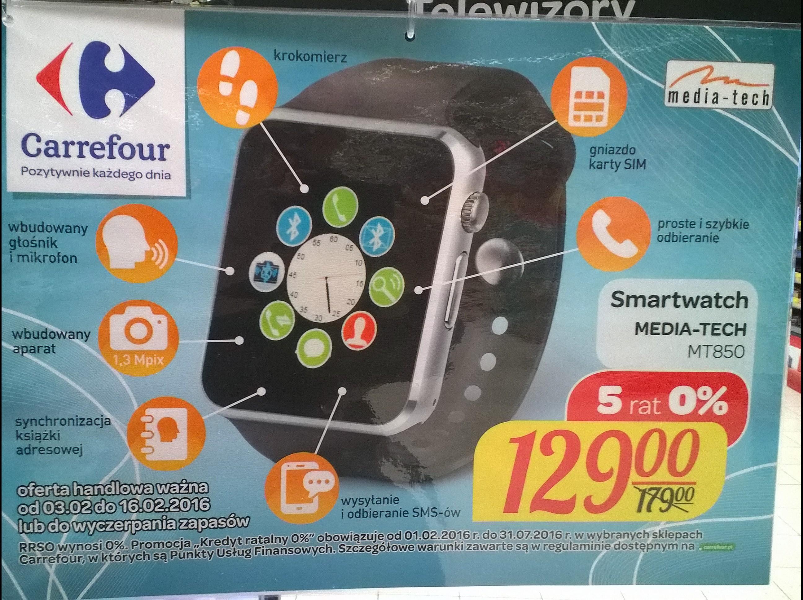 Smartwatch 2G Mediatech MT850 @ Carrefour