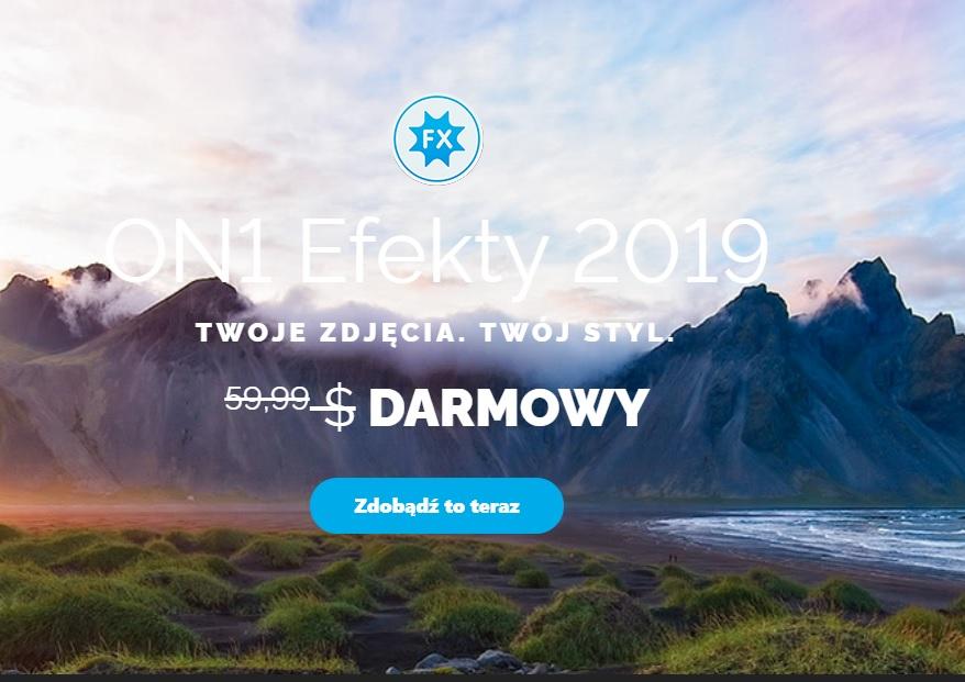 ON1 Efekty 2019 ZA DARMO (Win & Mac)