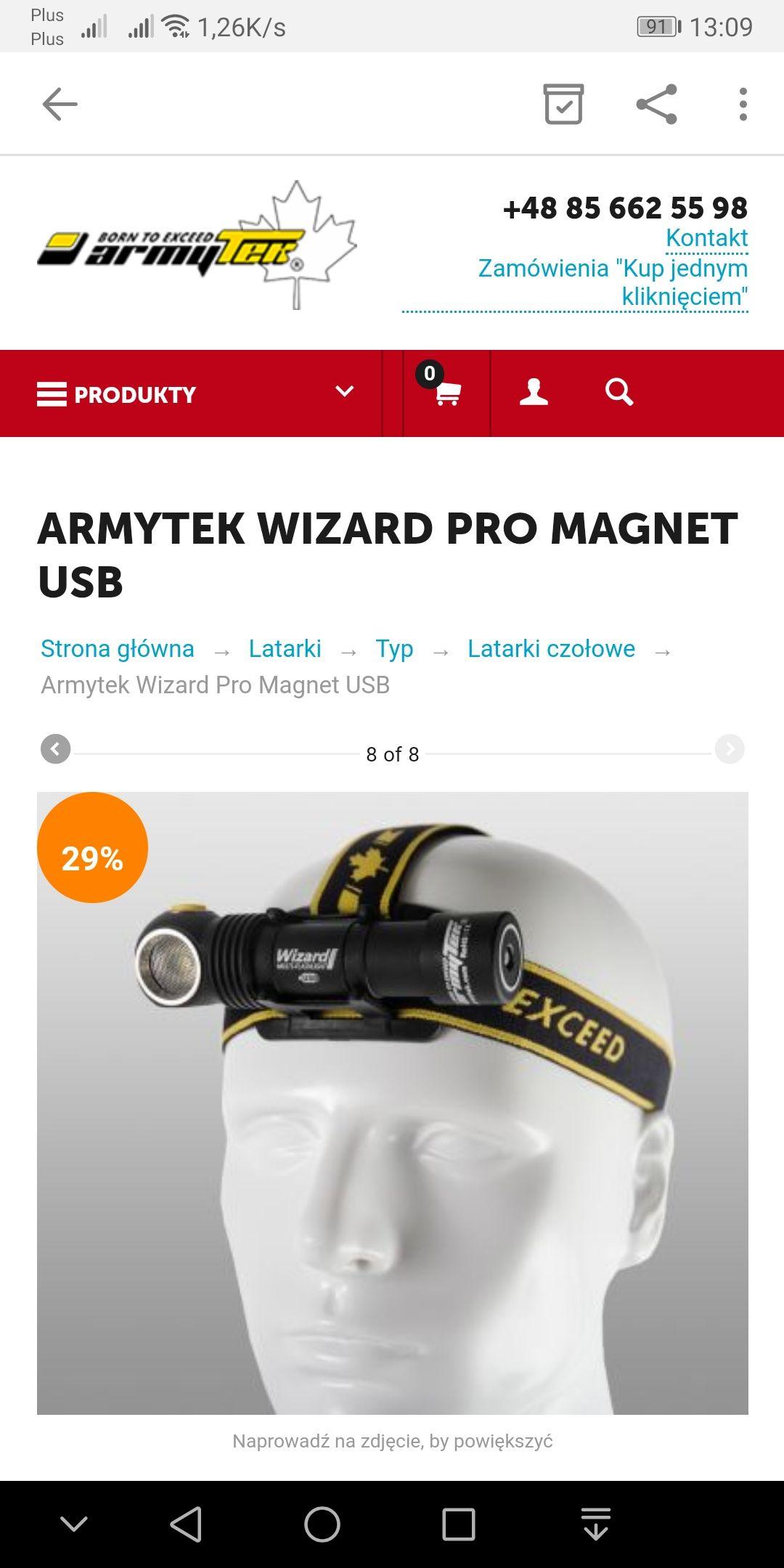 Latarka Armytek wizard pro. -29%