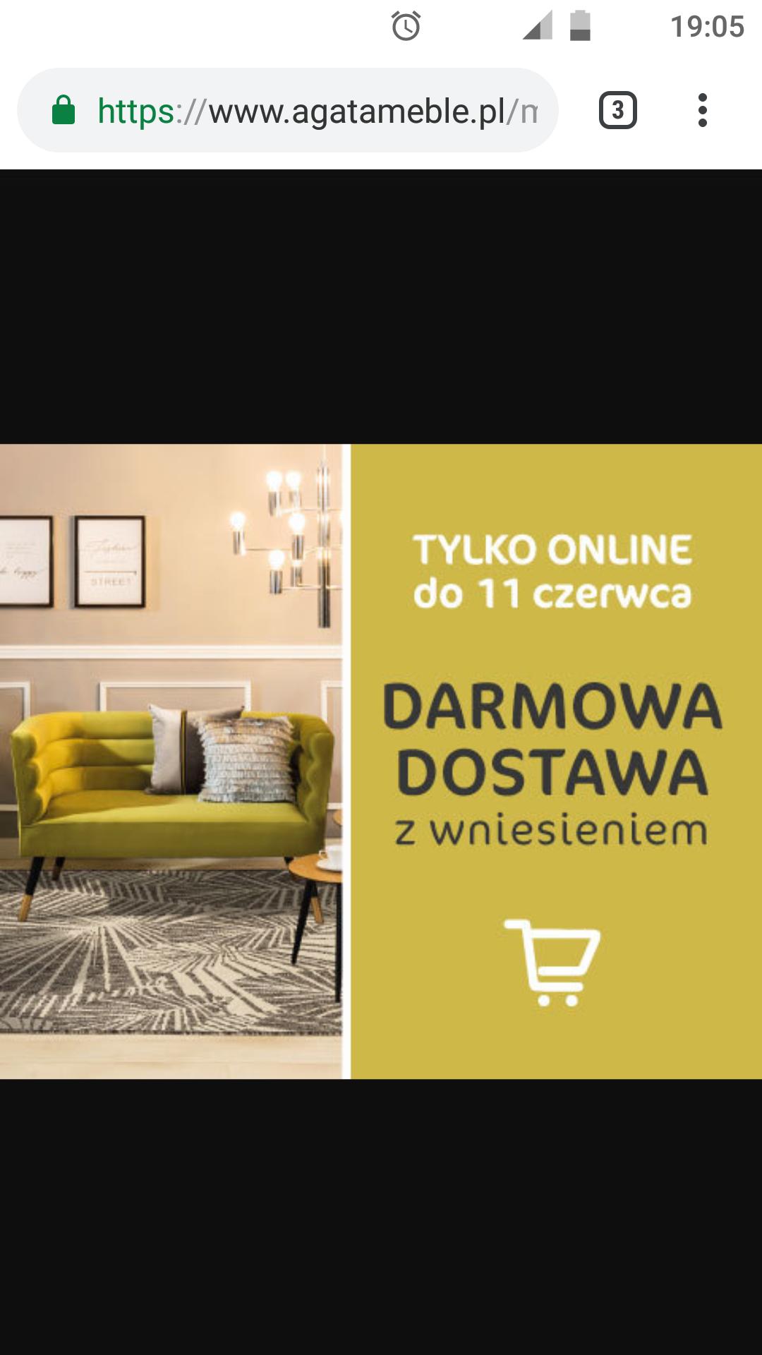 Darmowa dostawa z wniesieniem od 9.06 do 11.06