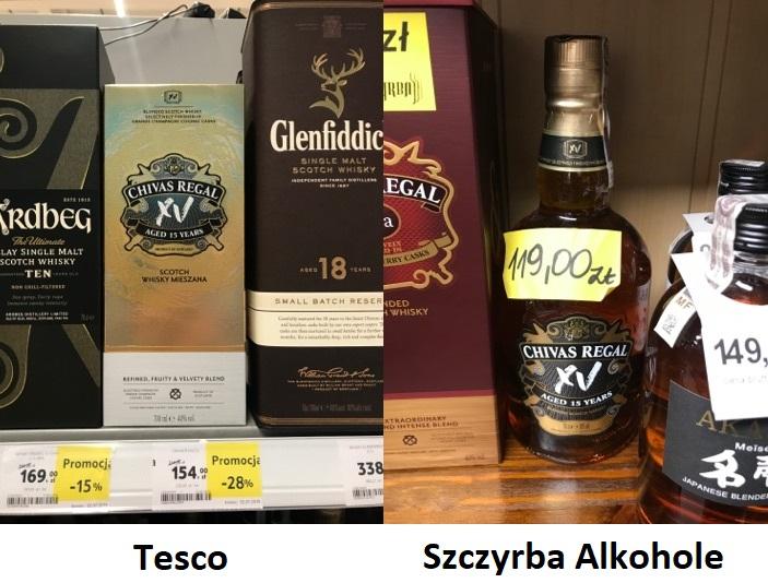 CHIVAS REGAL 15 letnia SCOTCH WHISKY 0,7 litra Szczyrba Alkohole