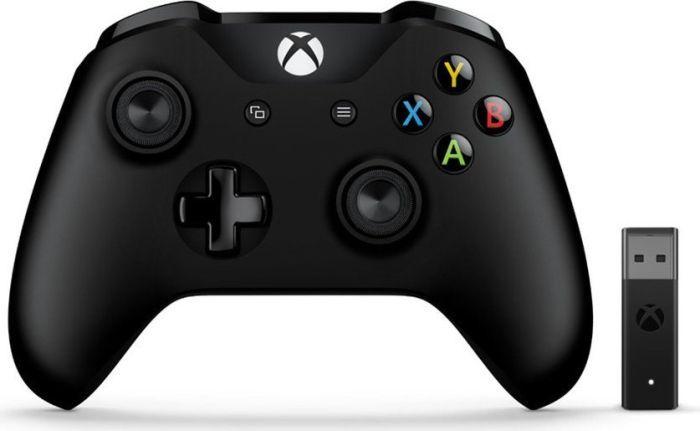 Microsoft Xbox One kontroler Wireless w tym adapter bezprzewodowy czarny (PC/Xbox One) (4N7-00002)