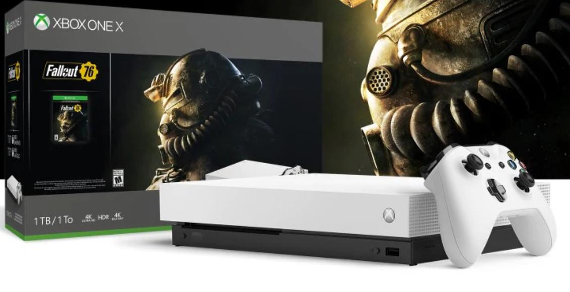 Zestaw konsoli Xbox One X Robot White Special Edition 1TB z grą Fallout 76