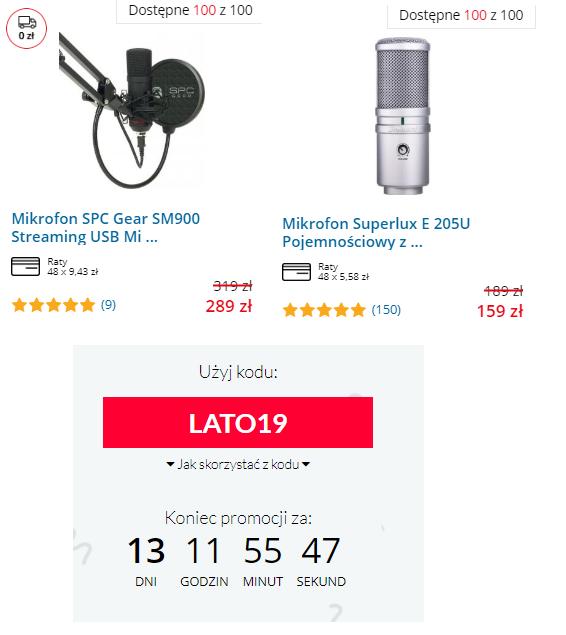 Mikrofony: SPC Gear i Superlux, snab i inne w promocji!