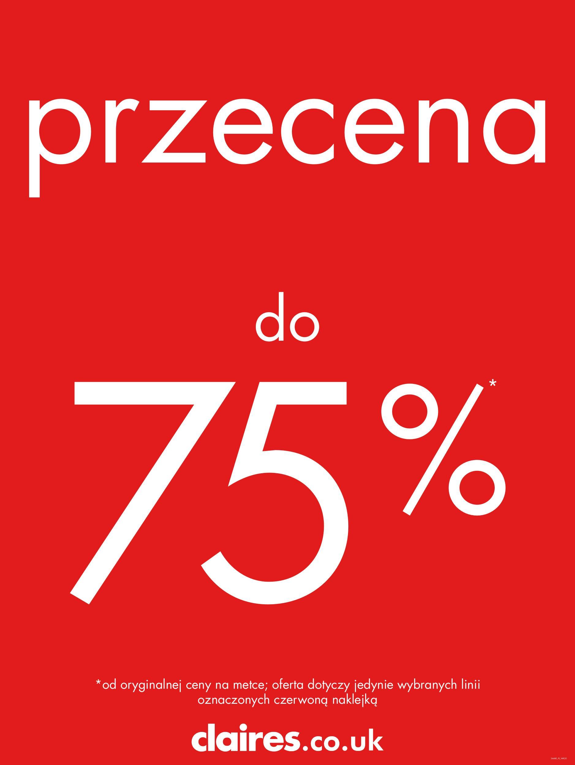 Rabaty do 75% !!! @ Claire's