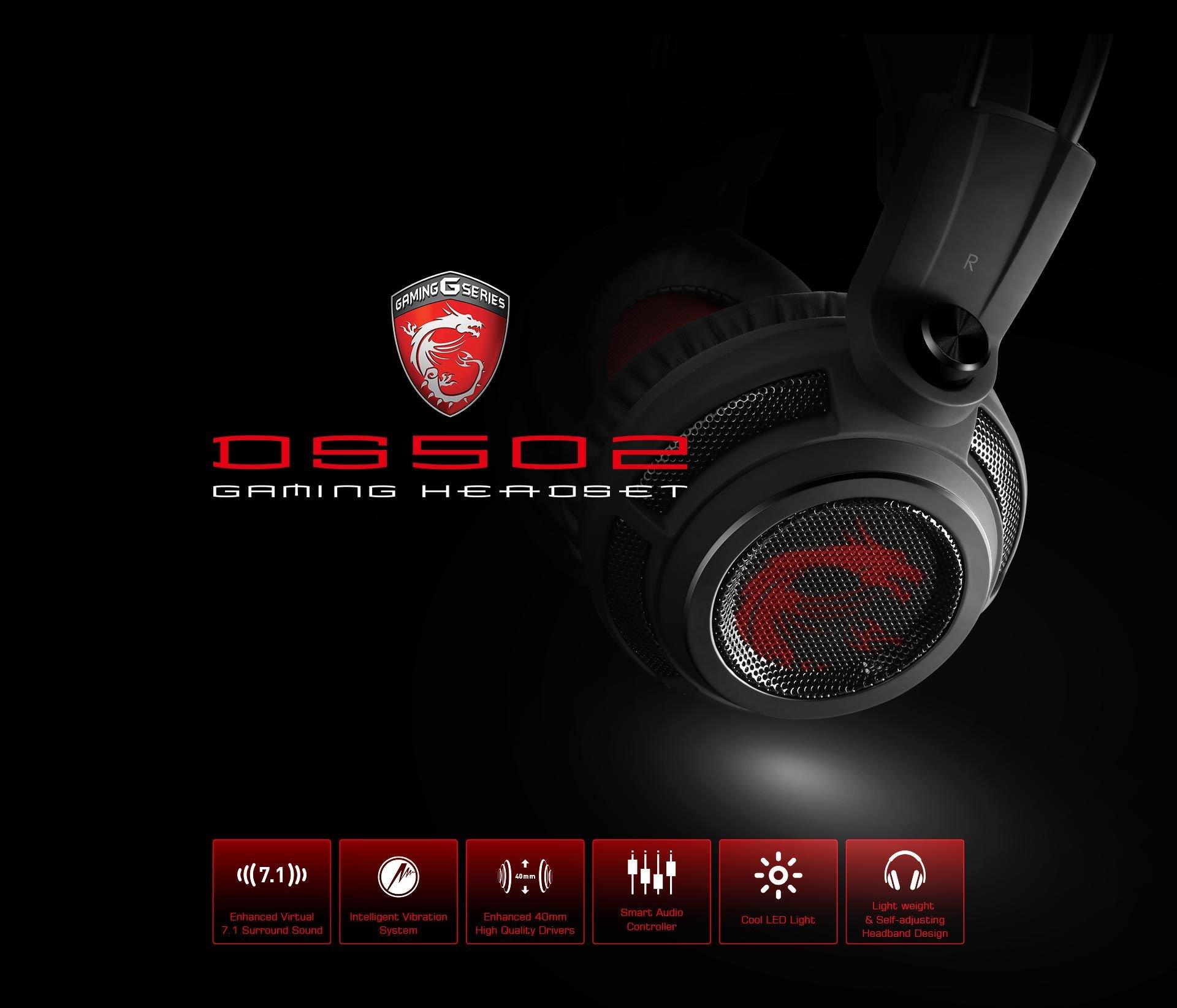 Słuchawki gamingowe MSI DS502 PONAD 30% TANIEJ