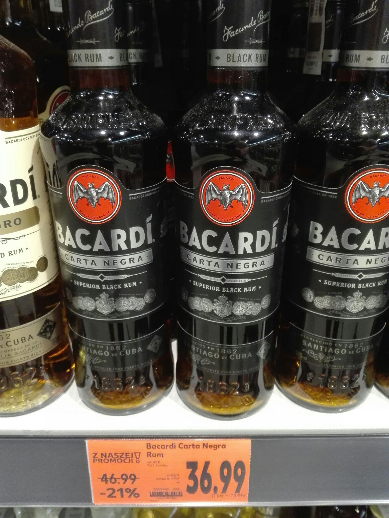 Bacardi Carta Negra 0,5 Kaufland