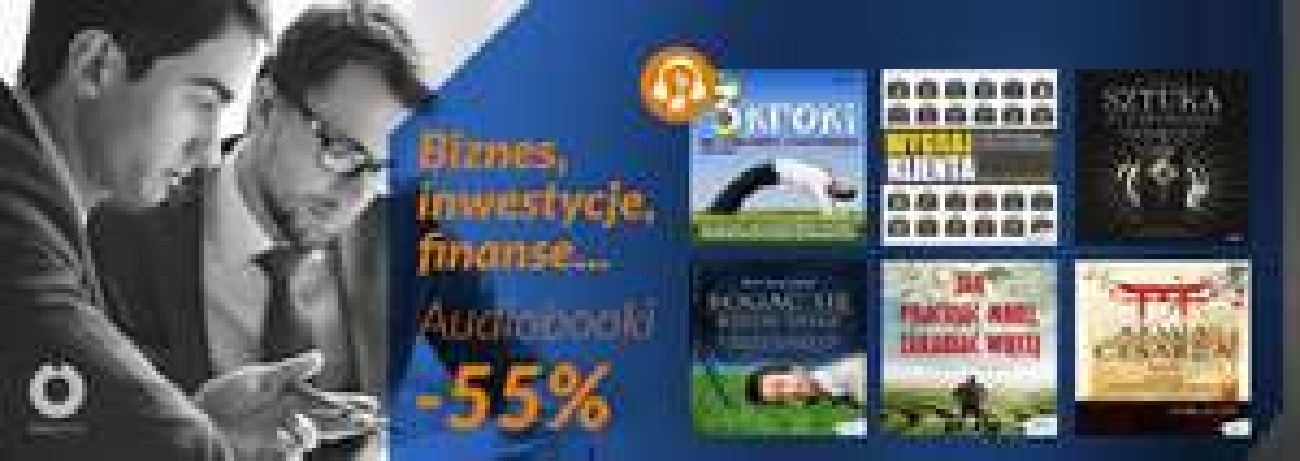 Audiobooki -55% biznes, inwestycje, finanse... @ Onepress