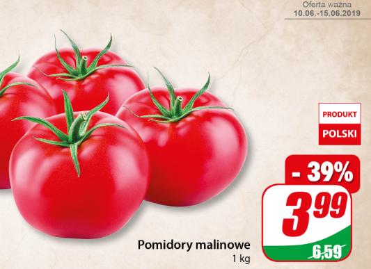 Pomidory malinowe w promocyjnej cenie w Dino