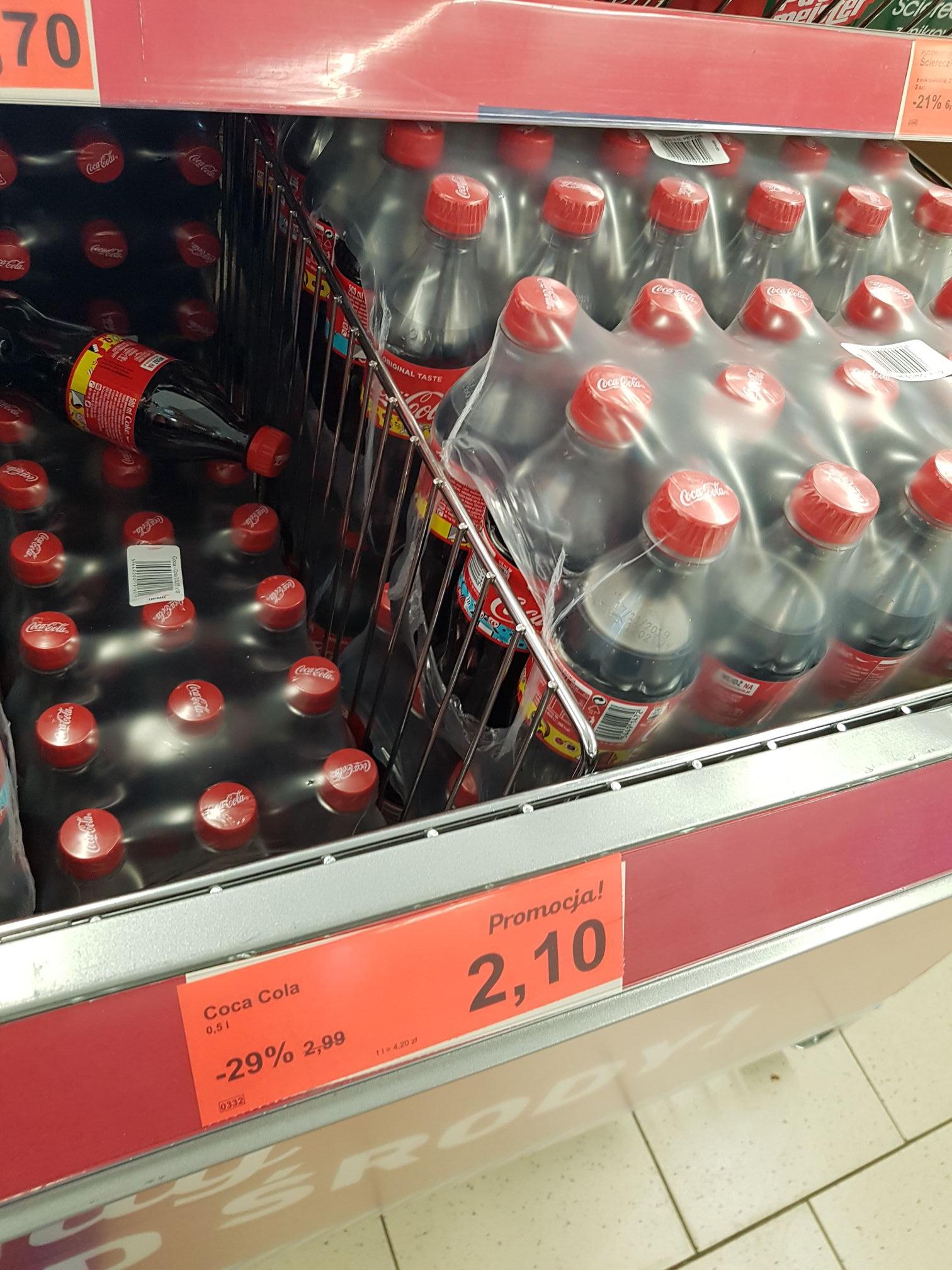 Coca cola 0,5l Aldi Dzierżoniów