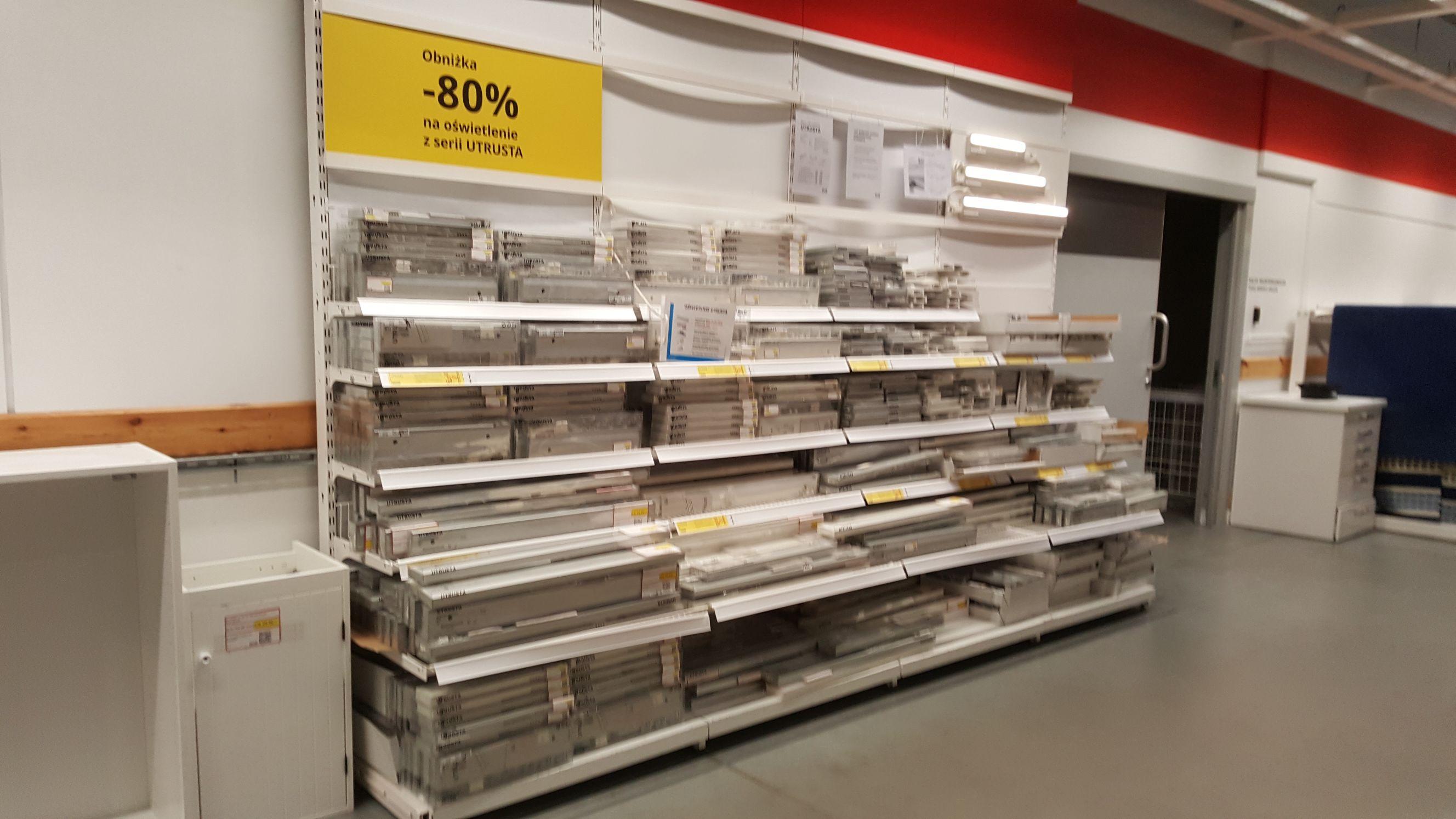Minus 90-80% na oświetlenie Utrusta, dział sprzedaży okazyjnej Ikea